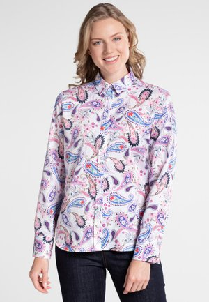 MODERN CLASSIC - Button-down blouse - blue/pink/white