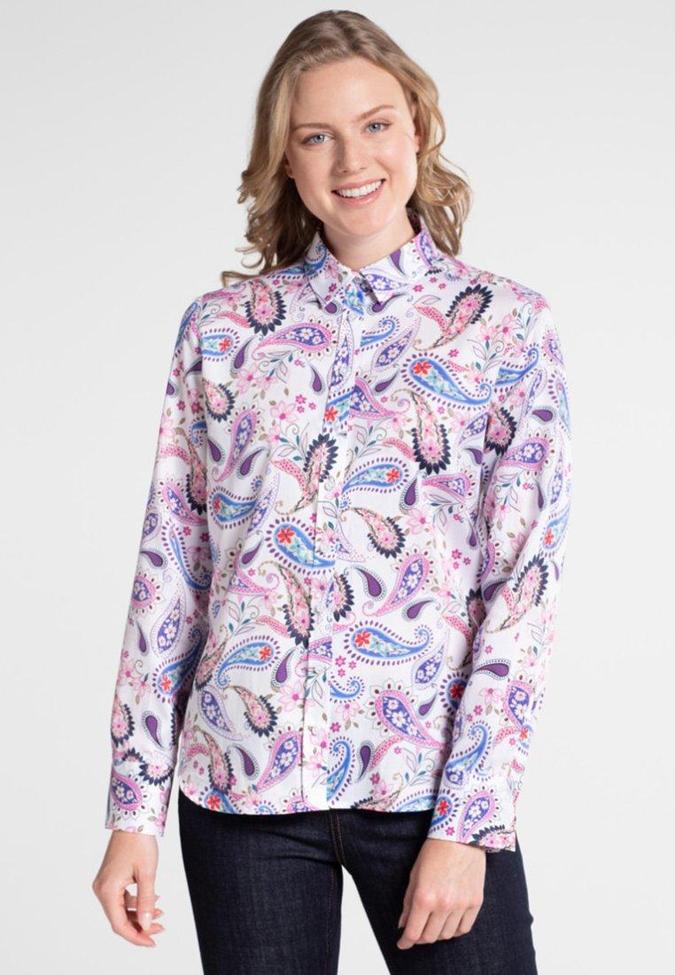 Eterna - MODERN CLASSIC - Button-down blouse - blue/pink/white