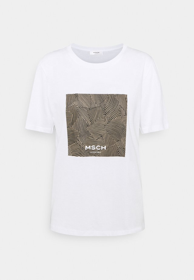 ALVA TEE - T-shirts print - white