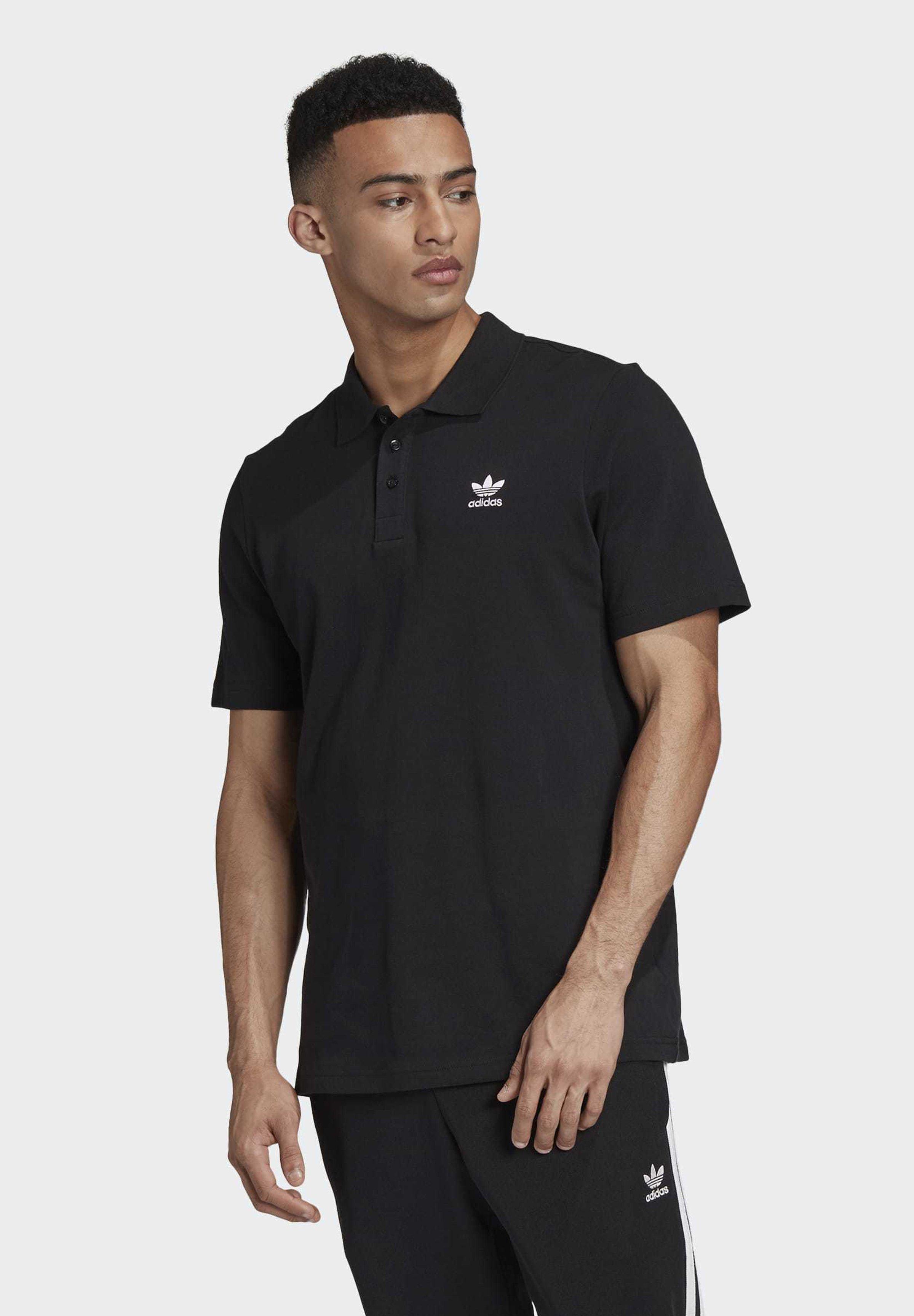 adidas Originals TREFOIL ESSENTIALS POLO SHIRT - Polo shirt - black A70xb
