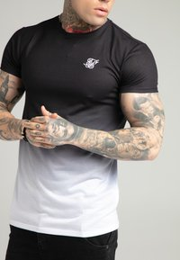 SIKSILK - FADE TEE - T-shirt med print - black/white - 4