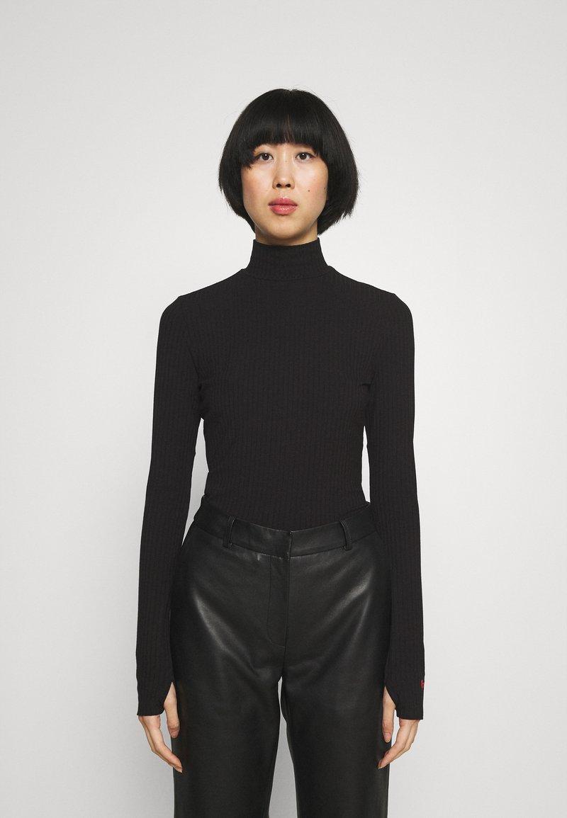 HUGO - NINELLI - Long sleeved top - black