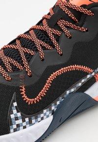 Nike Performance - RENEW ELEVATE - Basketball shoes - black/bright mango/thunder blue - 5