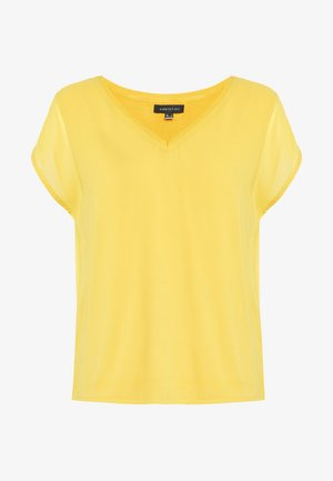 V NECK - Blusa - yellow