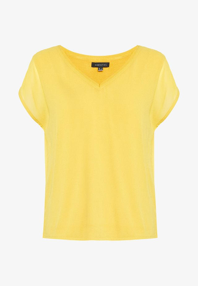 V NECK - Pusero - yellow