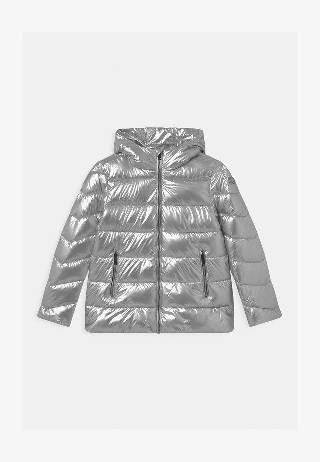 GIRL LONG FIX HOOD - Veste d'hiver - silver