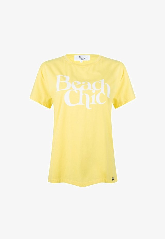 """BEACH CHIC""  - T-shirt print - yellow"