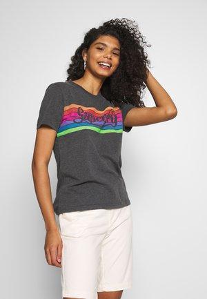 RAINBOW ENTRY TEE - T-Shirt print - charcoal marl