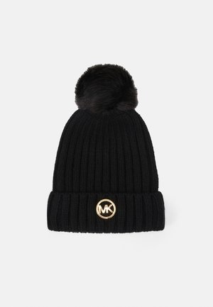 PATCH BEANIE - Bonnet - black/gold