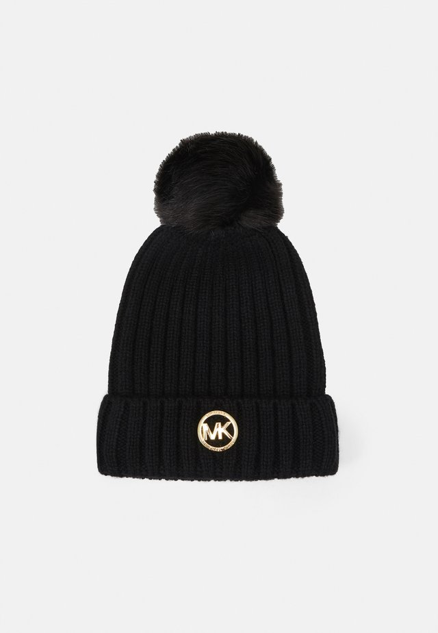 PATCH BEANIE - Pipo - black/gold