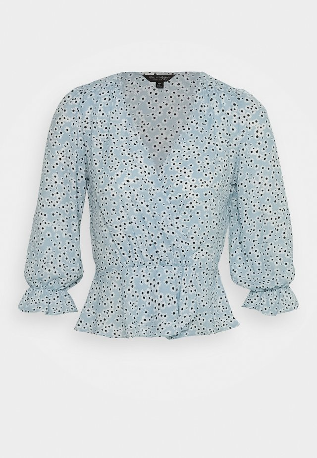 DAISY WRAP BLOUSE - Blusa - blue