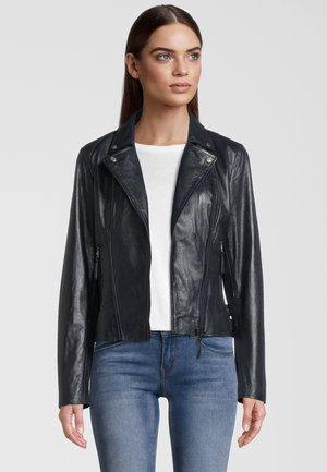 CAMILLE - Leather jacket - navy