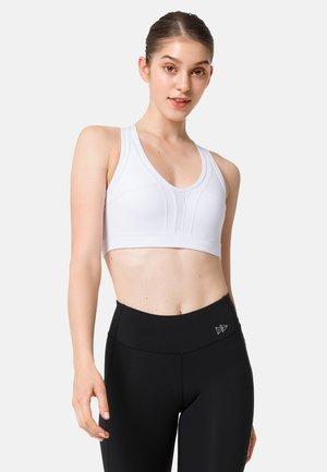 Medium support sports bra - white