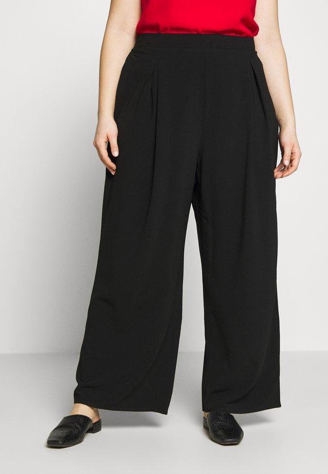 PALAZZO - Pantaloni - black