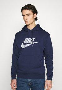 Nike Sportswear - HOODIE - Hoodie - midnight navy/(reflective) - 0