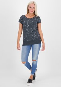 alife & kickin - COCOAK - Print T-shirt - marine - 1
