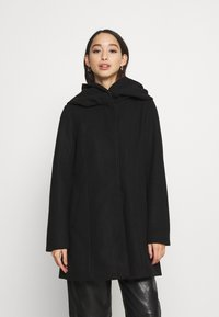 Vila - VICANA HOOD  - Short coat - black - 0