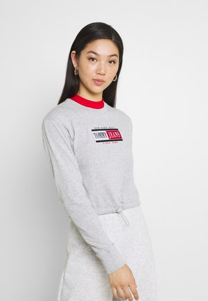 DRAWCORD TIMELESS - Long sleeved top - grey