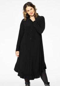 Yoek - Shirt dress - black - 1