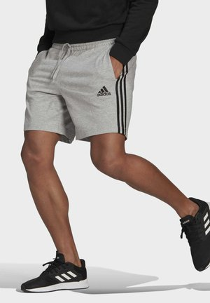 AEROREADY ESSENTIALS 3-STRIPES SHORTS - Krótkie spodenki sportowe - grey