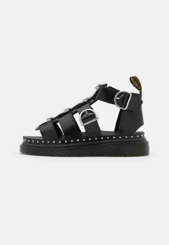 MACKAYE - Platform sandals - black buttero