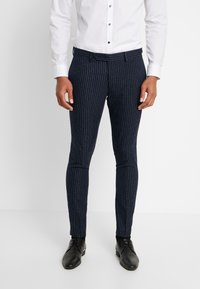Piazza Italia - PANTALONE - Spodnie garniturowe - blue - 0