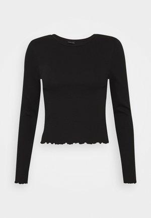 BELINDA - Maglietta a manica lunga - black