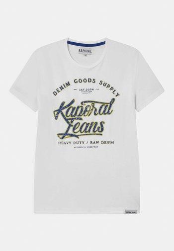 LOGO SCRIPT  - Print T-shirt - white
