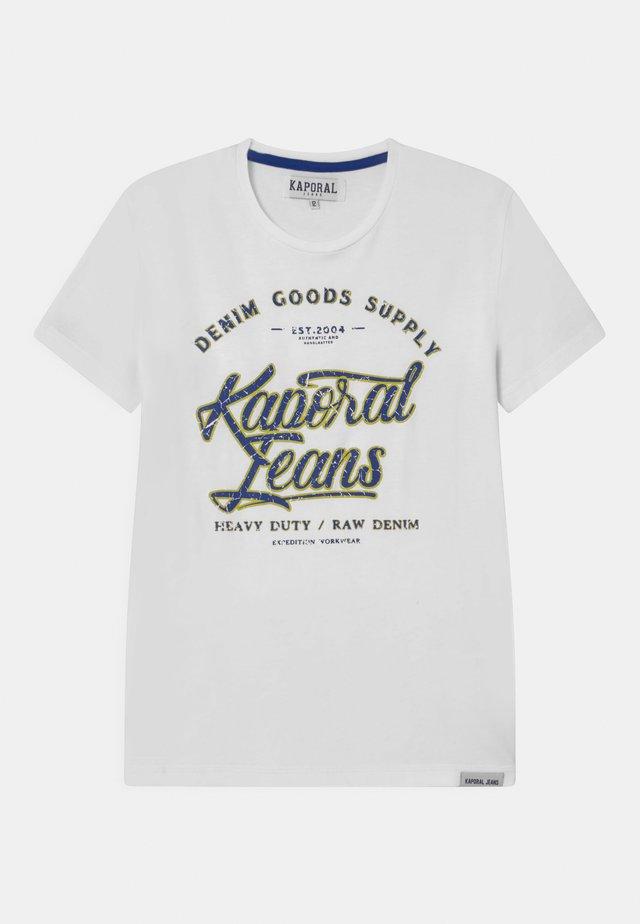 LOGO SCRIPT  - Camiseta estampada - white