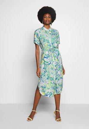 Shirt dress -  mint/offwhite/lemon/blue