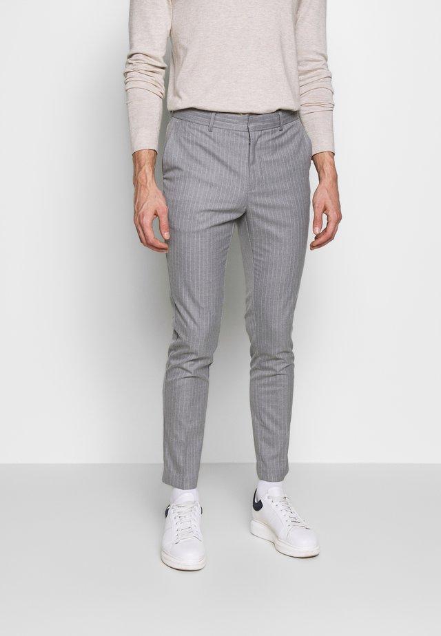 TONY PINSTRIPE SKINNY - Suit trousers - light grey