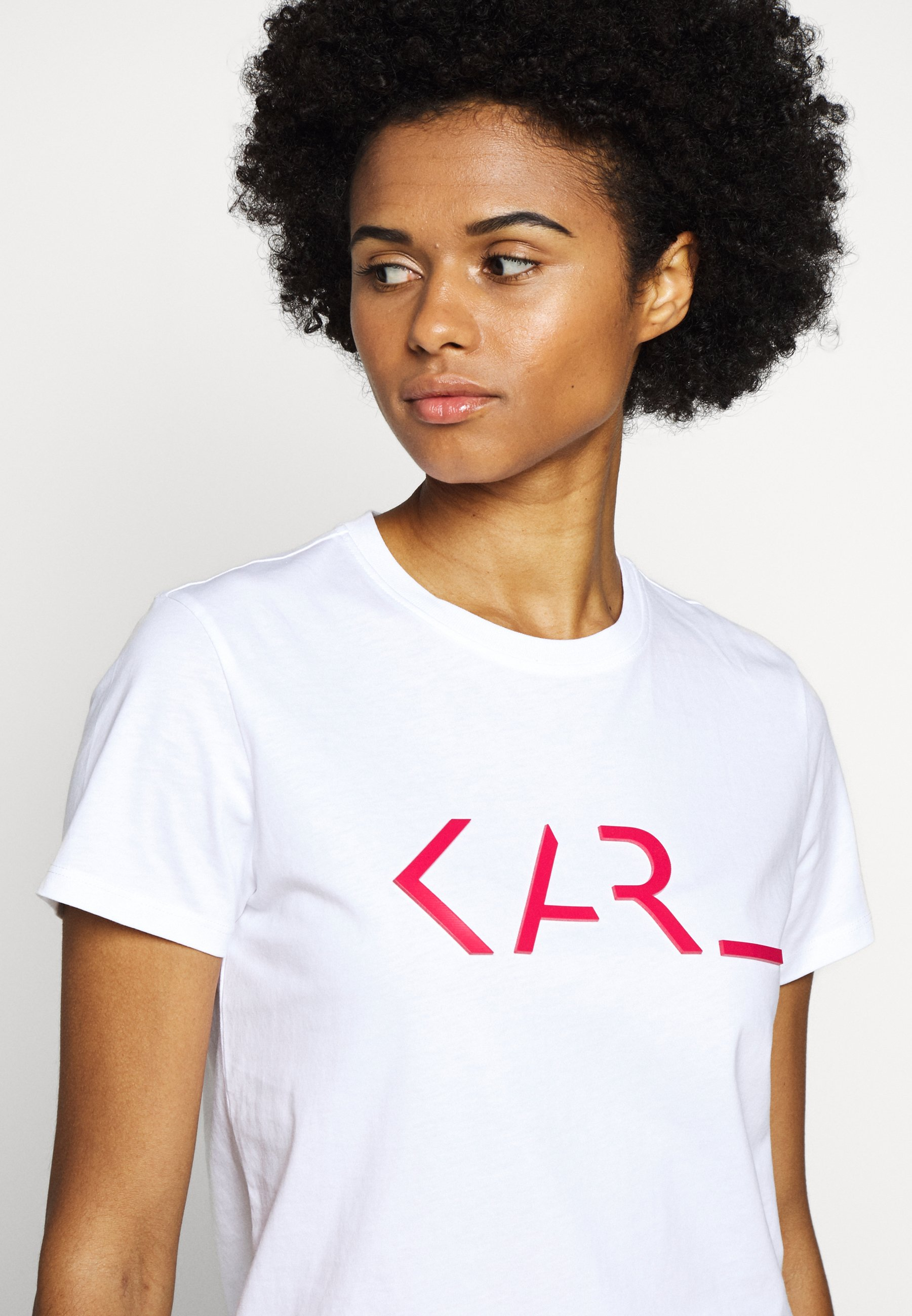 Up To Date Women's Clothing KARL LAGERFELD LEGEND LOGO Print T-shirt white xvclH514R