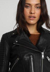 AllSaints - ESTELLA BIKER - Leather jacket - black - 4