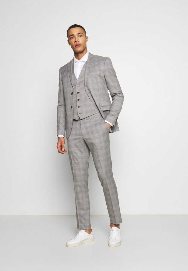 CHECK 3 PIECES SUIT - Costume - grey