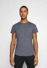 Tommy Jeans - SLIM JASPE C NECK - Basic T-shirt - twilight navy - 0