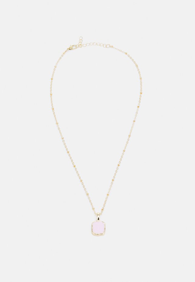 ONLALICE 1-PACK NECKLACE - Ketting - gold colour/pink stone