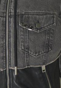 Diesel - L-IVAN JACKET - Leather jacket - black - 4