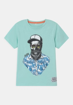 NKMDULLA - T-shirt con stampa - blue tint