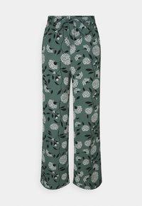 ONLNOVA PALAZZO PANT - Pantalones - balsam green/white