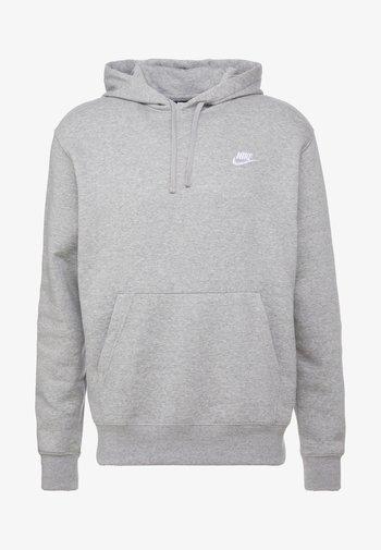 CLUB HOODIE - Huppari - grey heather/matte silver/white