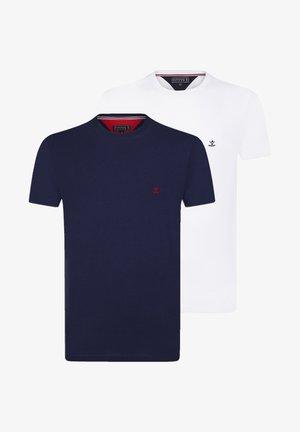 2ER PACK - T-shirt basic - navy-white
