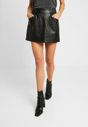 ONLLIZA SKIRT - Mini skirt - black