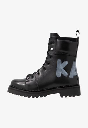 KADET HI LACE BOOT - Veterboots - black