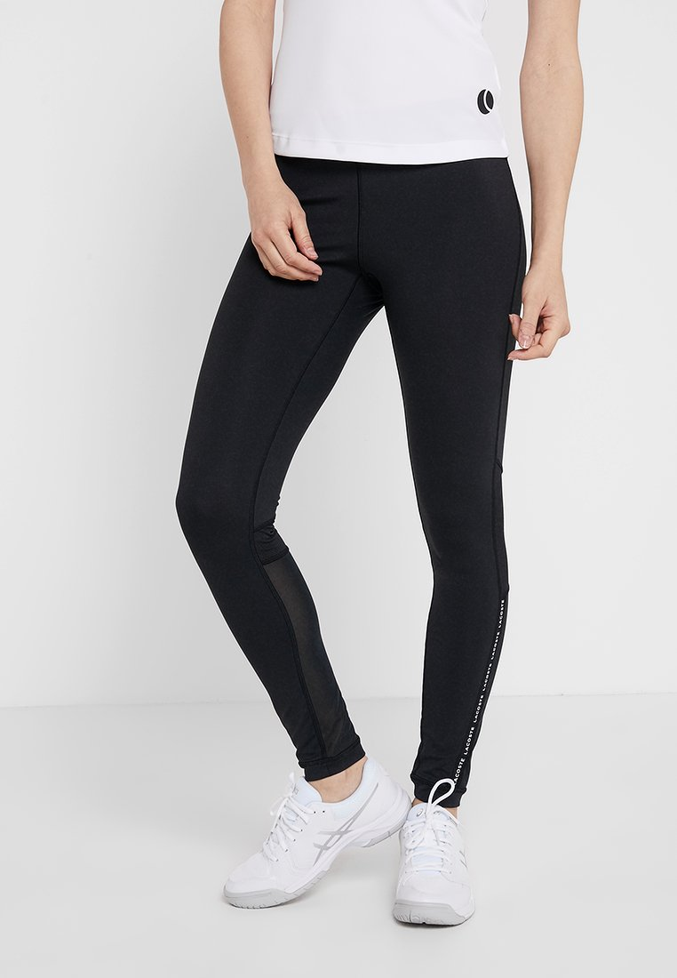Lacoste Sport - Leggings - black/white