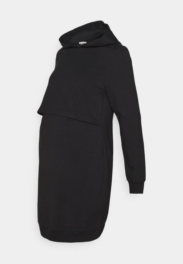 NURSING HOODIE DRESS - Jerseykjole - black