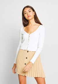 Miss Selfridge - BUTTON TRHOUGH - Long sleeved top - white - 0