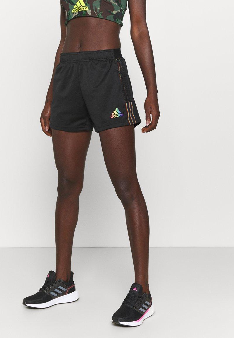 adidas Performance - TIRO PRIDE - Pantalón corto de deporte - black