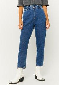 TALLY WEiJL - Jeans Tapered Fit - dark blue - 0