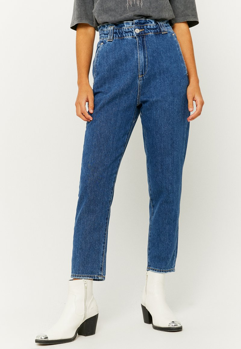 TALLY WEiJL - Jeans Tapered Fit - dark blue