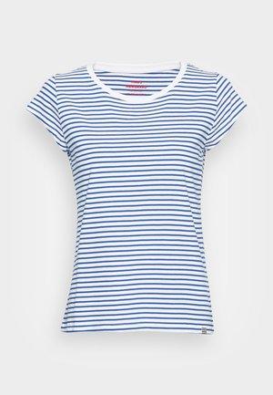 ORGANIC FAVORITE STRIPE TEASY - Print T-shirt - white/princess blue